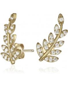 9329791077864 - MESTIGE GOLD - Boucles d'oreilles plaqué or et SWAROVSKI -