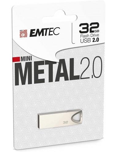 3126170162687 - Emtec ECMMD32GC802 - Mini Clé USB - 2.0 - Séries Full Métal - Collection C800 - 32 G -